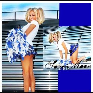 Sexy Blue Cheerleader Halloween Costume